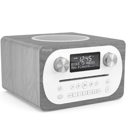 Pure Evoke C-D4 DAB+/FM Radio with CD Player and Bluetooth in Grey Oak